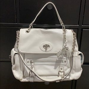 Coach White Handbag !